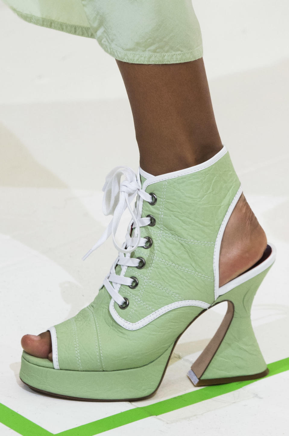 <p><i>Pastel green platform heel from the SS18 Sies Marjan collection. (Photo: ImaxTree) </i></p>
