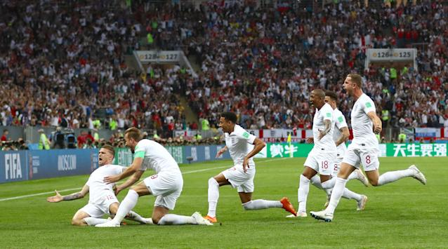 Big moment: England's Kieran Trippier was the Man of the Match in Moscow