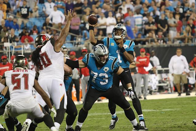 The Panthers and Bucs squared off in Week 2. (Photo by John Byrum/Icon Sportswire via Getty Images)