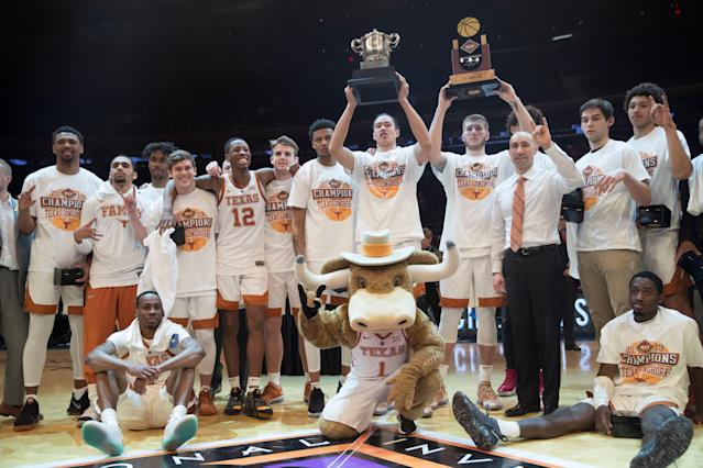 The Texas website got a little too excited over the team's NIT win. (AP)