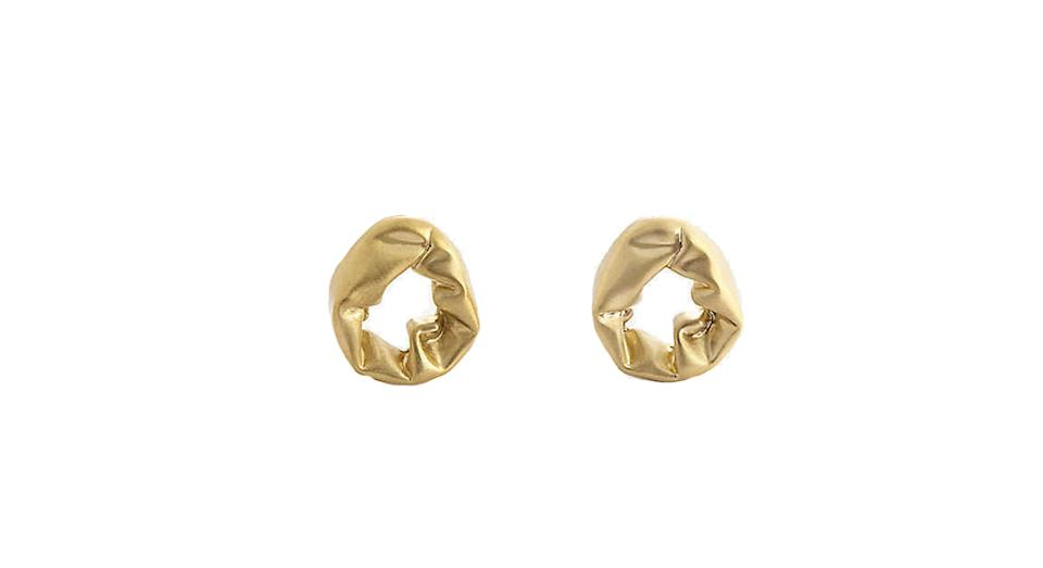 Scrunch 18ct gold-plated sterling silver earrings