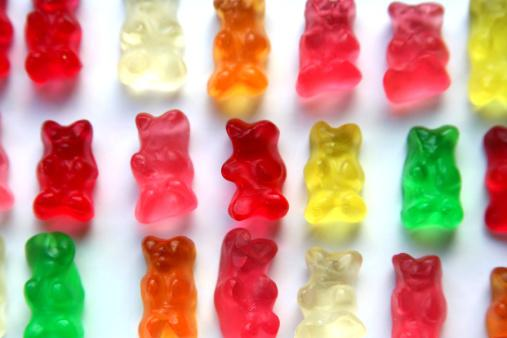 rows gummy bears