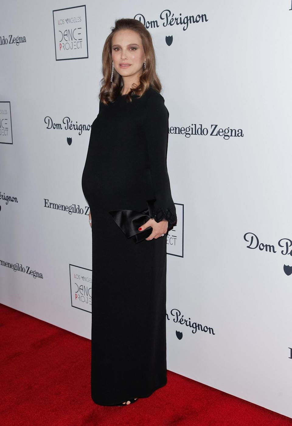 <p>At another awards event last year, Natalie made a strong case for an unfussy, long dress. Featuring frilled sleeves and a matching neck, the look is a great option for women who like to stick to block colours and minimalist designs. [Photo: Getty] </p>
