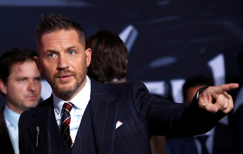 "Cast member Tom Hardy attends the premiere for the movie ""Venom"" in Los Angeles, California, U.S., October 1, 2018. REUTERS/Mario Anzuoni"