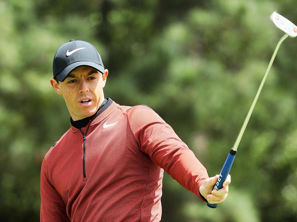 McIlroy struggled in the testing conditions (Getty)
