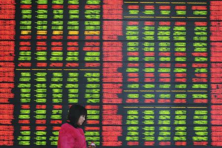 Asian stocks traded mostly lower on Friday morning except for the Chinese stocks.