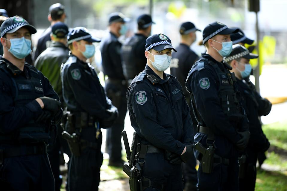 """Hundreds"" of NSW Police officers were on patrol during a Black Lives Matter protest in Sydney on Tuesday. Source: AAP"