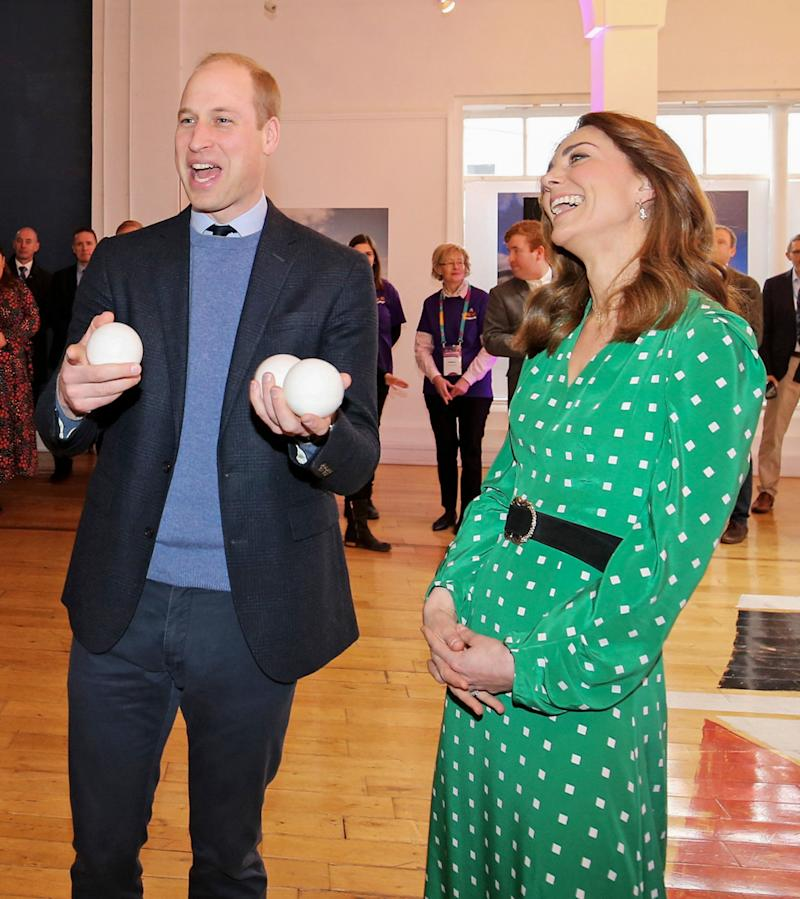 The Duke of Cambridge juggled for volunteers during a visit to Galway. (Photo by Julien Behal/Pool/Samir Hussein/WireImage)