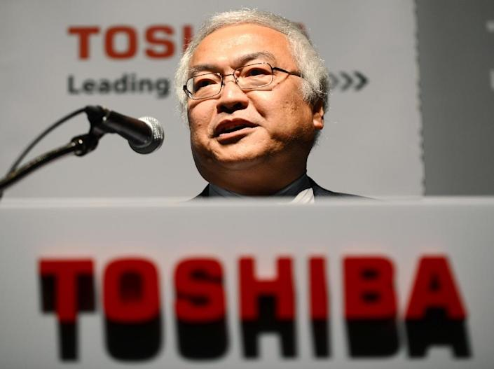 Norio Sasaki, who served as Toshiba president between June 2009 and June 2013, is expected to step down (AFP Photo/Toshifumi Kitamura)