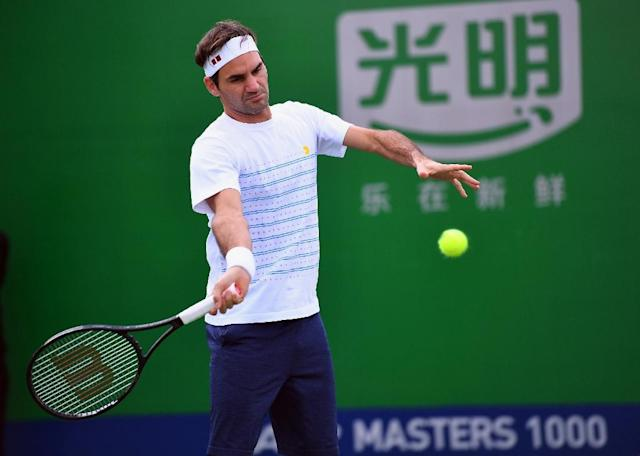 Roger Federer says he is in top condition for his title defence. (AFP Photo/Johannes EISELE)