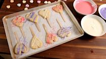 "<p>This hack for making heart-shaped cookies is amazing.</p><p>Get the recipe from <a href=""https://www.delish.com/cooking/recipe-ideas/recipes/a51432/heart-cookie-pops-recipe/"" rel=""nofollow noopener"" target=""_blank"" data-ylk=""slk:Delish"" class=""link rapid-noclick-resp"">Delish</a>.</p>"