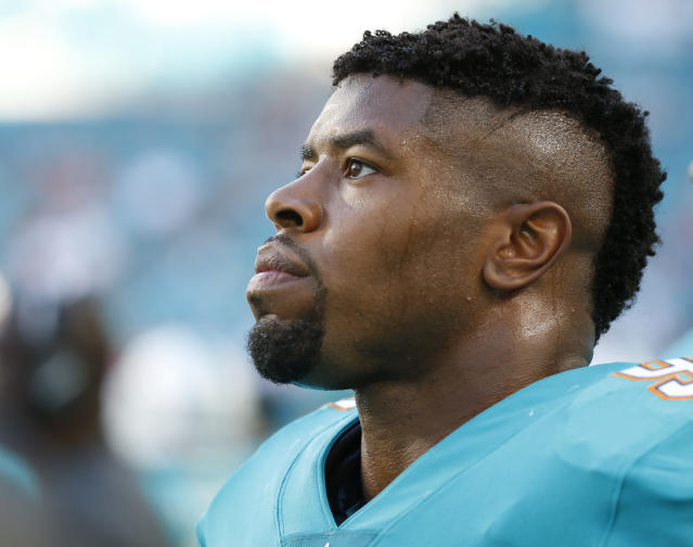 "<a class=""link rapid-noclick-resp"" href=""/nfl/players/9691/"" data-ylk=""slk:Cameron Wake"">Cameron Wake</a> had harsh words for rules that he believes leave defensive players vulnerable. (AP)"
