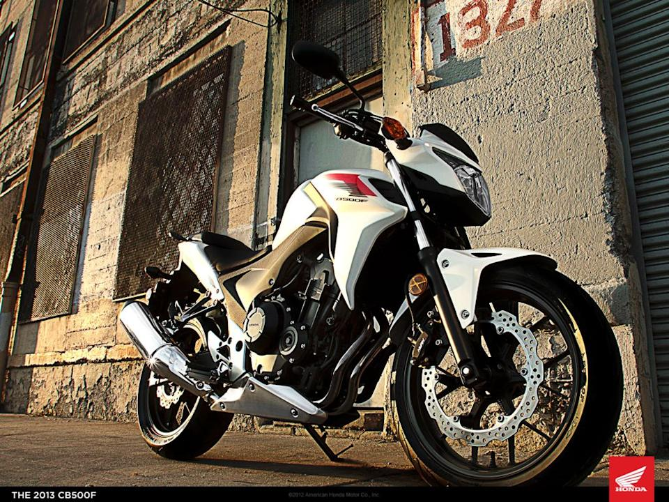 The Honda CB500F is the semi-faired version of the CBR500R, using the same engine.