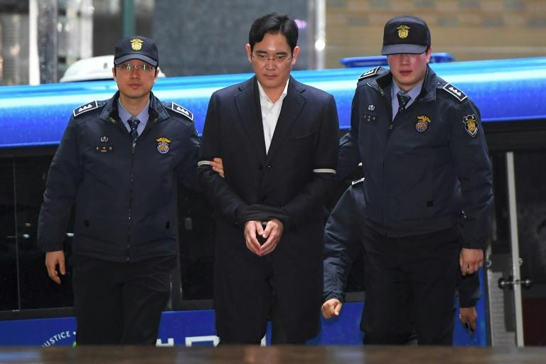Samsung heir Lee Jae-Yong is facing bribery charges linked to the graft scandal that brought down ex-president Park Geun-Hye