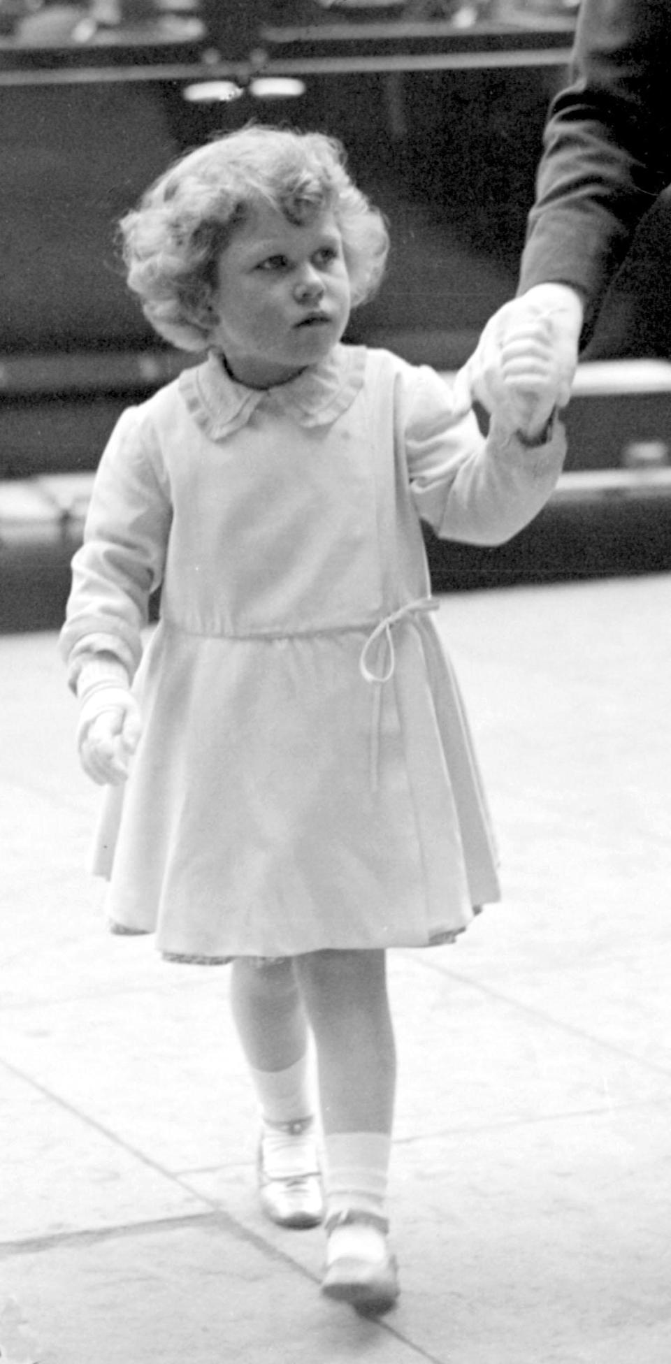 <p>Princess Elizabeth arrives at the Royal Tournament, at Olympia, London (PA Archive) </p>