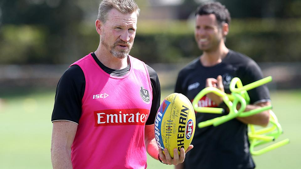 Magpies coach Nathan Buckley has admitted his response to Heritier Lumumba's racism complaints was 'dismissive'.. (Photo by Jono Searle/Getty Images)