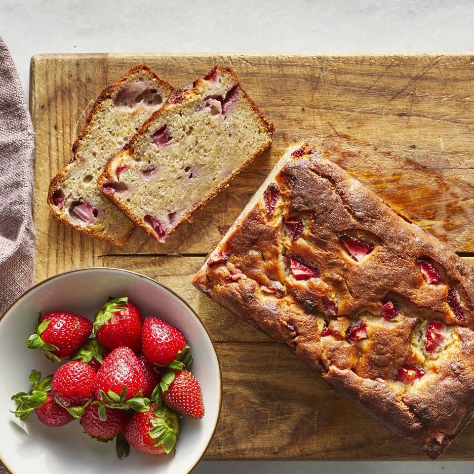 <p>Give classic banana bread a sweet twist with the addition of juicy strawberries. The combination of the fruits turns this simple quick bread into a bright, sweet breakfast bread, snack or dessert. For an extra-decadent treat, serve each slice with a scoop of sliced strawberries.</p>