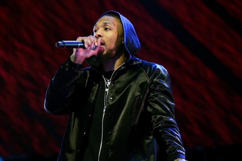 """Portland Trail Blazers star Damian Lillard released a new track about racism called """"Blacklist."""" (Photo by Kevin Mazur/Getty Images)"""