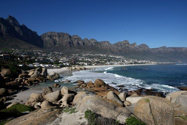 A view of Camps Bay and the Twelve Apostles in Cape Town, South Africa