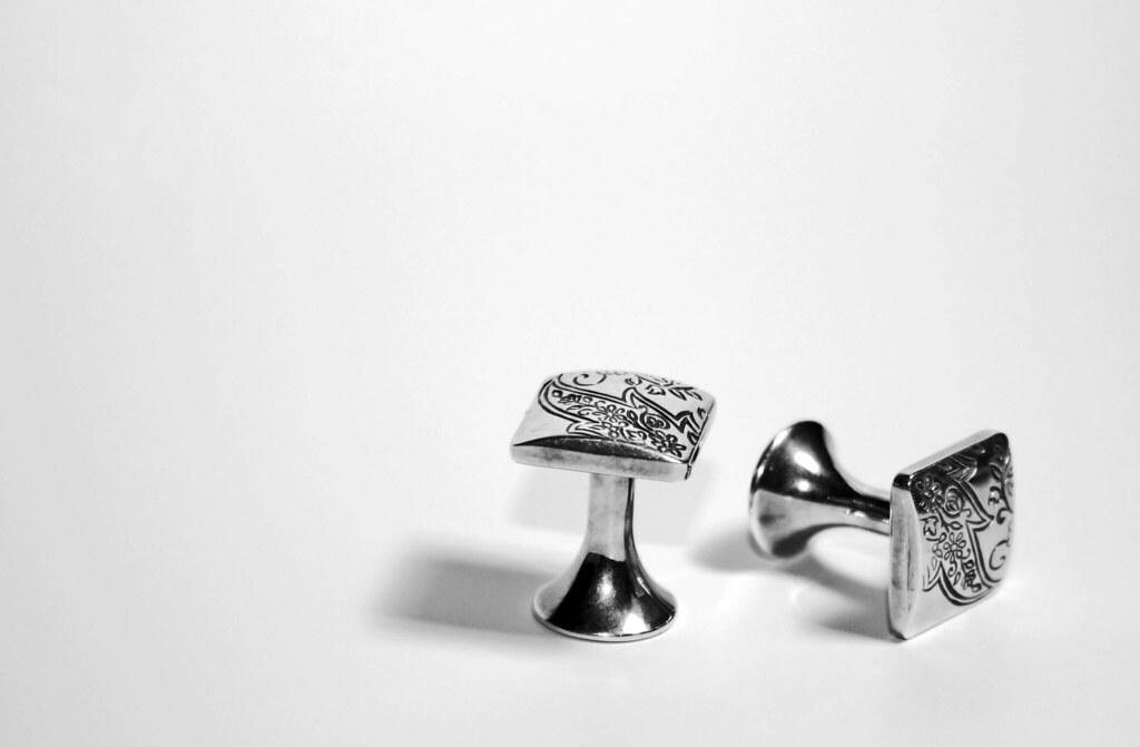 Every man needs a pair of stylish cufflinks to go with the above said suit. You might almost never wear these but it's important to own a set in order to be able to wear them on formal occasions. They're a man's jewels and never go out of style.