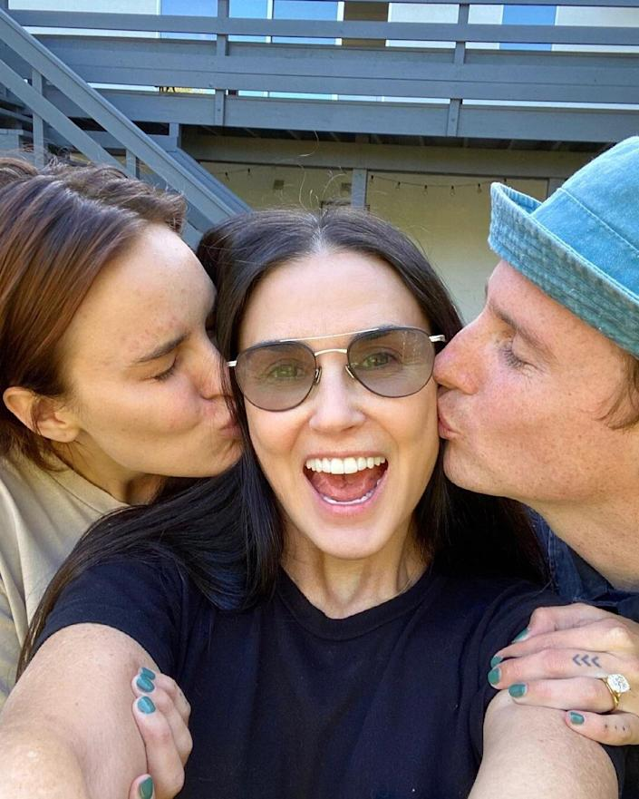 Demi Moore Shares Cute Family Reactions Post to Daughter Tullulah's Engagement: 'Happy Day'
