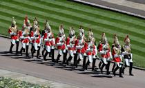<p>The cavalry march ahead of the funeral of the Duke of Edinburgh. (PA)</p>