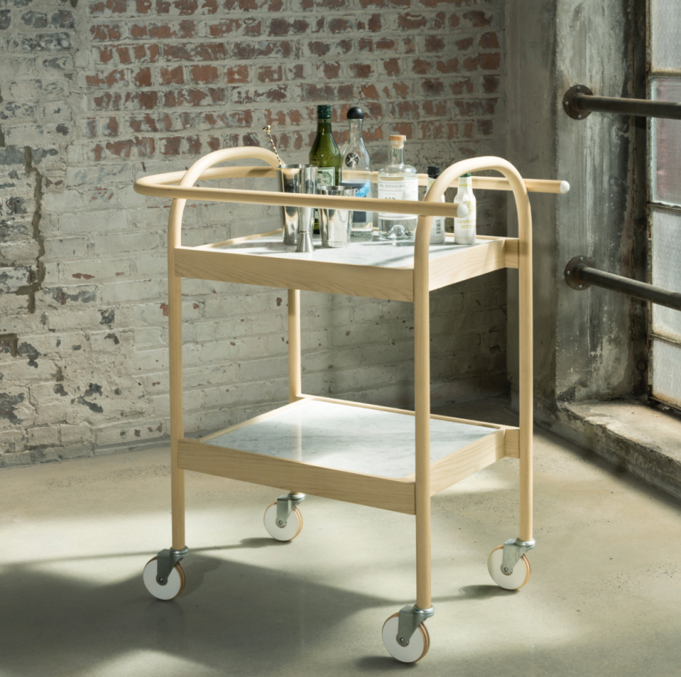 """<p>bowenliustudio.com</p><p><strong>$7600.00</strong></p><p><a href=""""https://bowenliustudio.com/furniture/u3-bar-cart-serving-trolly"""" rel=""""nofollow noopener"""" target=""""_blank"""" data-ylk=""""slk:SHOP NOW"""" class=""""link rapid-noclick-resp"""">SHOP NOW</a></p><p>This Brookyln-based furniture design and research studio crafts items with a peaceful living environment in mind. The high quality offerings include investment pieces, like a platform bed and bar cart, along with smaller objects, like a candelabra and cutting board.</p>"""