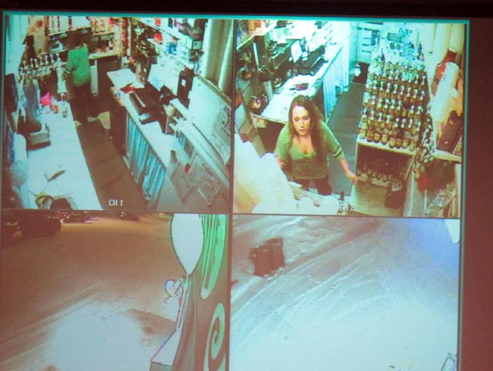FILE - This image taken Dec. 4, 2012, in Anchorage, Alaska, shows video surveillance footage of Samantha Koenig, 18, making a cup of Americano coffee for Israel Keyes, shortly before he abducted her Feb. 1, 2012, and then killed her. Keyes showed no remorse as he detailed how he'd abducted and killed the 18-year-old woman, then demanded ransom, pretending she was alive. His confession cracked the case, but prosecutors questioning him soon realized there was more, he has killed before. Before divulging more details, Keyes committed suicide in his cell. (AP Photo/Mark Thiessen)