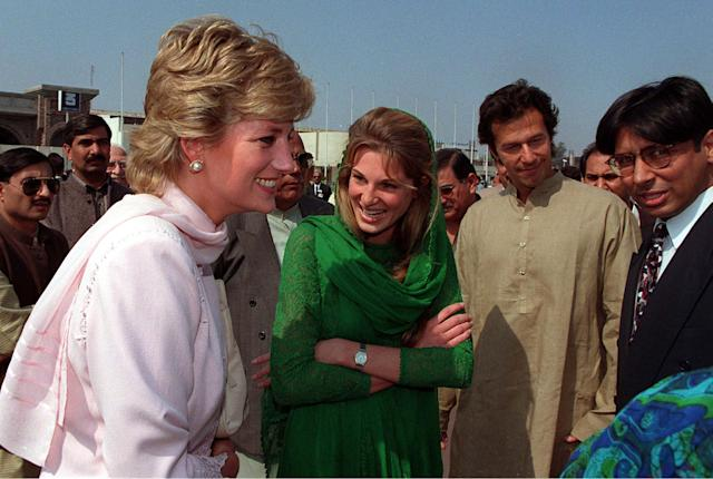 The Duke of Cambridge's mother visited close friend Jemima Khan and her then-husband Imran in Lahore in 1996 [Image: Getty]