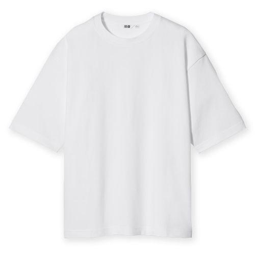 """<p>There's no such thing as the perfect white T-shirt. But, with a boxy, loose fit and a lining that's specially designed to stimulate ventilation and comfort (very important!), Uniqlo's oversized Airism line comes pretty close. </p><p>£12.90; <a href=""""https://go.redirectingat.com?id=127X1599956&url=https%3A%2F%2Fwww.uniqlo.com%2Fuk%2Fen%2Fproduct%2Funiqlo-u-airism-cotton-crew-neck-oversized-fit-t-shirt-435806COL37SMA004000.html&sref=https%3A%2F%2Fwww.esquire.com%2Fuk%2Fstyle%2Ffashion%2Fg9971%2Fcool-clothes-for-men%2F"""" rel=""""nofollow noopener"""" target=""""_blank"""" data-ylk=""""slk:uniqlo.com"""" class=""""link rapid-noclick-resp"""">uniqlo.com</a></p>"""
