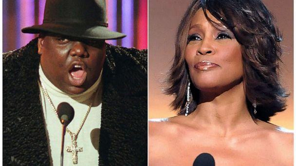 PHOTO: Notorious B.I.G. and singer Whitney Houston are among the 16 acts nominated for the Rock and Roll Hall of Fame's 2020 class. (AP, FILE)