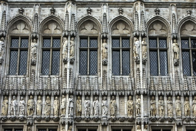 Detail on the buildings of the Grand Place in Brussels, Belgium (John Walton/PA)