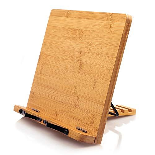 Bamboo Book Stand Cookbook Holder (Amazon / Amazon)