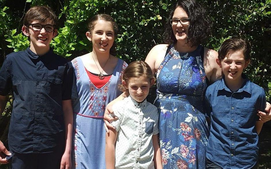 Katrina Miles with her four children. The five were among seven people found dead in Australia's worst mass shooting since the Port Arthur massacre
