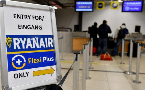 The passenger escaped from a Ryanair flight - Credit: BERND SETTNIK/AFP