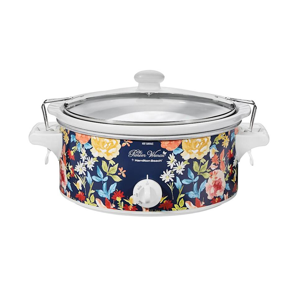 "<p>Whether it's a 6-pound chicken or a 4-pound roast, this floral-painted 6-quart slow cooker can handle it. Plus, it will look so pretty sitting in your kitchen. <br><strong><a href=""https://fave.co/2Qnfn7U"" rel=""nofollow noopener"" target=""_blank"" data-ylk=""slk:SHOP IT"" class=""link rapid-noclick-resp"">SHOP IT</a>:</strong> $26, <a href=""https://fave.co/2Qnfn7U"" rel=""nofollow noopener"" target=""_blank"" data-ylk=""slk:walmart.com"" class=""link rapid-noclick-resp"">walmart.com</a> </p>"