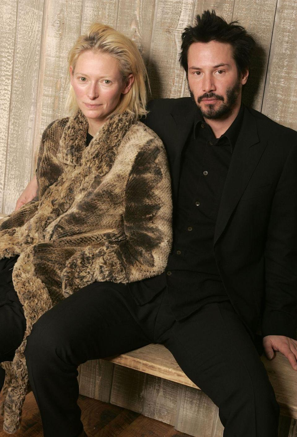 <p>Only Keanu is allowed to manspread.</p>
