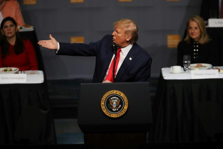 Trump speaks at the Economic Club of New York on November 12, 2019
