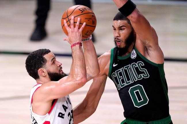 A look at five key moments in Game 7 between the Raptors and Celtics