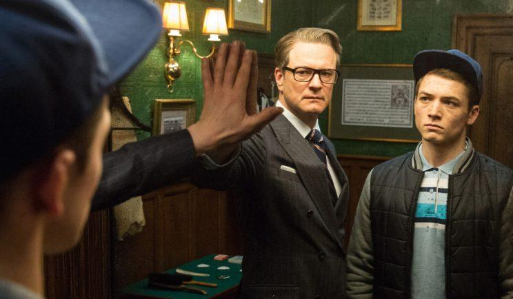 Harry Hart welcomes Eggsy into Kingsman - Credit: 20th Century Fox