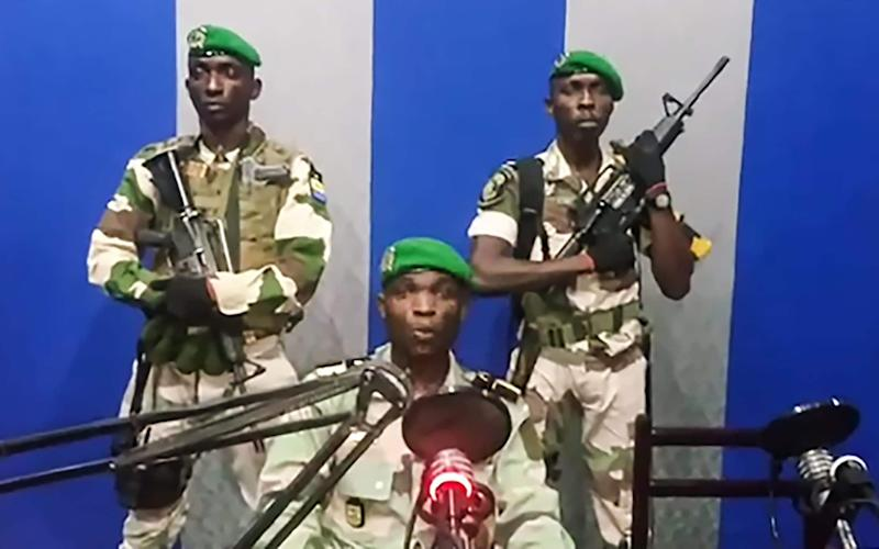 Gabon soldiers on state radio called on the people to