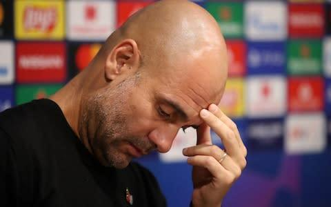 <span>Do you think the City boss ever takes a chill pill? Pep Guardiola wants his side to play with the intensity of of big Premier League clash this evening</span> <span>Credit: Action Images </span>