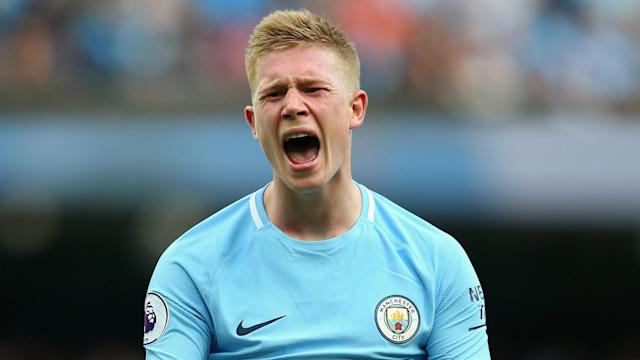 Kevin de Bruyne has been directly involved in seven of Manchester City's 32 goals this season