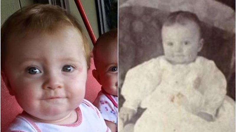 Baby's Photo Bears Uncanny Resemblance to Great-Great Grandfather in 109-Year-Old Pic
