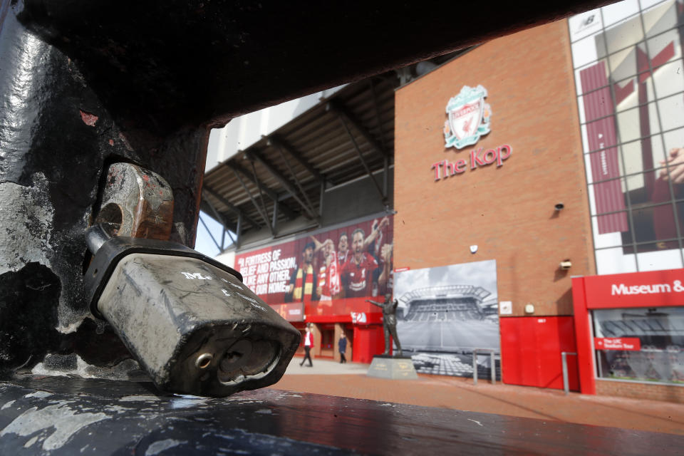 Liverpool clinching the Premier League title at an empty Anfield wouldn't make for dramatic television, and it would be risky for the players. (Photo by Martin Rickett/PA Images via Getty Images)