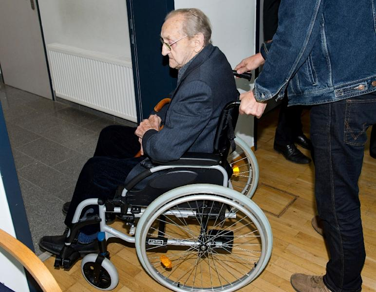 Former SS medic Hubert Zafke, 96, faced charges of aiding in 3,681 murders in Auschwitz in 1944 (AFP Photo/Stefan Sauer)