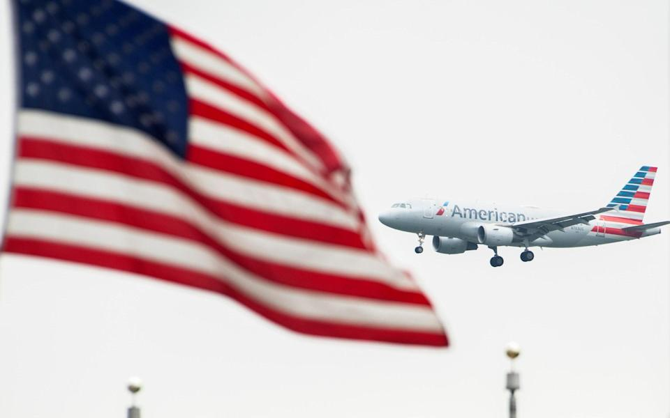 An American Airlines jet landing in Washington - Getty