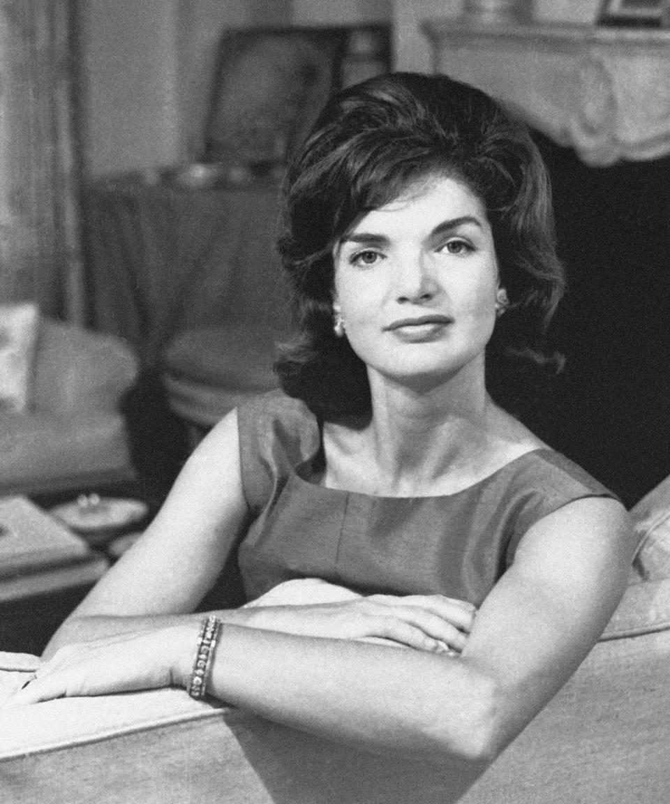 "<h3>Jackie O.<br></h3><br><a href=""https://www.refinery29.com/en-us/2020/05/9826299/jackie-kennedy-skin-routine-makeup-museum-erno-laszlo"" rel=""nofollow noopener"" target=""_blank"" data-ylk=""slk:Jackie Kennedy Onassis"" class=""link rapid-noclick-resp"">Jackie Kennedy Onassis</a> <a href=""https://www.refinery29.com/en-us/2017/02/140189/jackie-kennedy-hair-makeup-routine-experiment"" rel=""nofollow noopener"" target=""_blank"" data-ylk=""slk:invested time into her hair"" class=""link rapid-noclick-resp"">invested <em>time</em> into her hair</a>. To get that signature bouffant, you could run to your local Drybar with this White House photo for inspiration. Or, opt for an at-home blowout. After you add volume with a round brush, make sure you have have some <a href=""https://www.refinery29.com/en-us/how-to-use-hot-rollers-big-curls"" rel=""nofollow noopener"" target=""_blank"" data-ylk=""slk:hot rollers"" class=""link rapid-noclick-resp"">hot rollers</a> on hand to help with perfecting those curled-under ends.<span class=""copyright"">Photo: Bettmann/Getty Images.</span>"