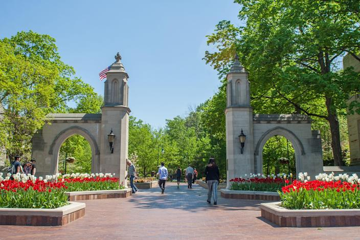 The Sample Gates are an iconic part of Indiana University but they've only been part of the campus in Bloomington since they were gifted to the school by Edson Sample, the former director of the Office of Scholarships and Financial Aid.