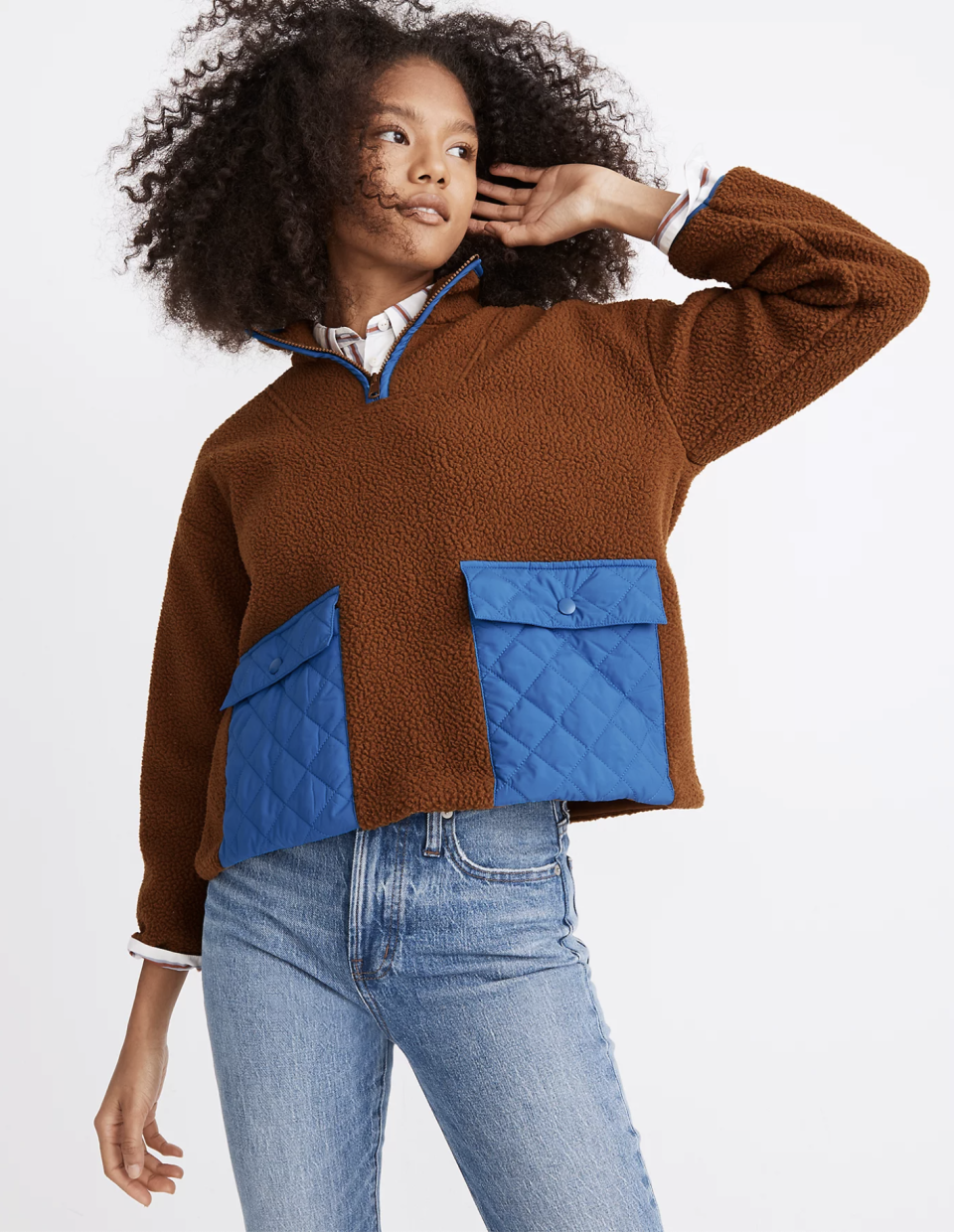 "<p><strong>Madewell</strong></p><p>madewell.com</p><p><strong>$128.00</strong></p><p><a href=""https://go.redirectingat.com?id=74968X1596630&url=https%3A%2F%2Fwww.madewell.com%2F%2528re%2529sourced-fleece-quilted-pocket-popover-jacket-MC240.html&sref=https%3A%2F%2Fwww.seventeen.com%2Ffashion%2Fg34644503%2Fmadewell-black-friday-sales-2020%2F"" rel=""nofollow noopener"" target=""_blank"" data-ylk=""slk:Shop Now"" class=""link rapid-noclick-resp"">Shop Now</a></p><p>The unexpected chocolate/cobalt combo feels so much cooler than your typical plain black fleece.</p>"